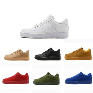 Wholesale Fashion High Low AF1 One Dunk Flyline Mens Women Skateboarding Ones Shoes Cut Black White Wheat blue triple outdoor airforcess Sneakers