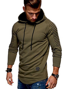 Wholesale Mens Designer Hoodies Men s Long Sleeve Hooded Cap with Pleated Striped Muscle Brothers Sweatshirt Pullover For Sale