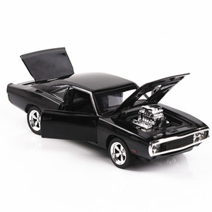 Wholesale 1 The Fast Furious Simulation car of Model Alloy Toy car Dodge Charger muscle vehicle children Classic Metal Cars
