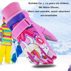 Children's Gloves Boy And Girl Universal Winter Cold And Windproof Waterproof Winter Gloves Wear-resistant Breathable