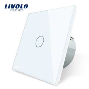 Wholesale Livolo EU Standard Wall Touch Switch with Luxury Glass Touch Switch, 80mm*80mm,1 Gang 1 Way Wall Touch Switch