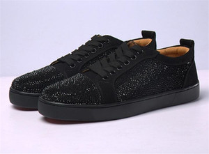 Wholesale Top Quality Designs Fashion Spike Low Cut Party Dress Shoes Mens Womens Luxury Party Wedding Shoes Best Genuine Leather Casual Shoes