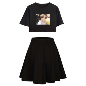 Wholesale Men s Team Event Bts Cartoon Leisure Time Clear Female Short Skirt Suit