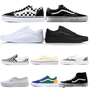 Wholesale 2019 Original old skool sk8 hi mens womens canvas sneakers black white red YACHT CLUB MARSHMALLOW fashion skate casual shoes size