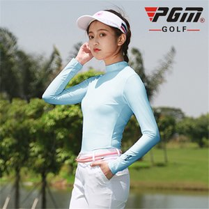 Wholesale Outdoor Sun Protection Shirt Pgm Womens Summer Ice Silk Underwear Golf Sunscreen Uv T Shirts Long Sleeve Golf Apparel D0351