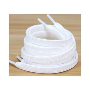 Wholesale Cheap Price Polyester White Black Shoelaces Low Elastic Silk Flat Follow Double Layer Shoe Laces for Shoes Gunsmoke Blue Orbit