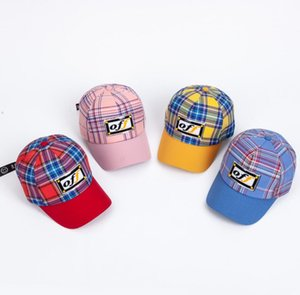 Wholesale Kids Plaid Hat Baseball Cap Letter Printed Hats Snapbacks Caps Summer Sunhat Fashion Hip Hop Cap Baby Outdoor Hat GGA1969