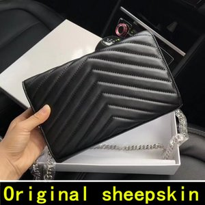 Wholesale 2020 Original sheepskin Designer Handbags high quality Luxury Handbags Famous Brands women bags Genuine Leather Flip cover Shoulder Bags