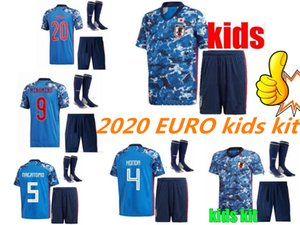 Wholesale 19 Japan kids kit Home Soccer Jerseys Europe cup HONDA OKAZAKI ATOM KAGAWA Japanese kids kit customize Football Shirt Uniform