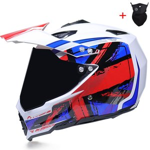 Wholesale NEW off road motorcycle helmet with sunshield Moto-Cross motocross helmet double lens racing moto