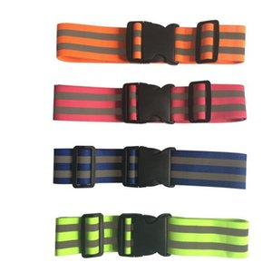 Wholesale High Visibility Unisex Safety Reflective Belt Safety For Night Running Strap Waist Belt for Man Apparel Accessories
