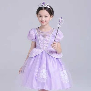 Wholesale Foreign trade children's clothing Sophia princess dress children's Halloween costumes sofia girls dresses