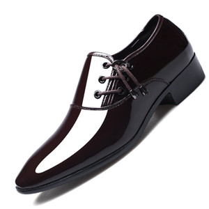 Wholesale patent leather shoes for men dress shoes oxford for men loafer zapatos de hombre de vestir formal sapato social jkm89