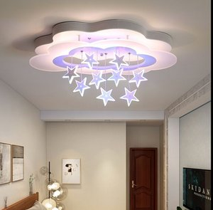 Wholesale dimming lights for sale - Group buy Ceiling light simple bedroom lights for children room kids white AC85 V dimming remote control Modern led ceiling lamp MYY