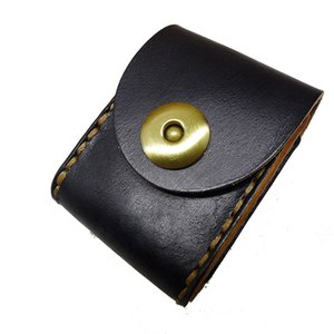 Wholesale Genuine Leather Zippo Pouch Waist Bag Belt Bag Handmade Creativity Men BD ZP