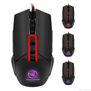 N Backlit Mechanical Macros Define Wired Gaming Mouse 3200DPI 9 Key USB Left Right Hand Dual-use Mouse for PC