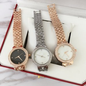Wholesale 2019 Fashion Top design Sexy Women Wristwatch High grade With diamond Rose Gold Steel Bracelet Chain Stainless steel Lady Female wristwatch