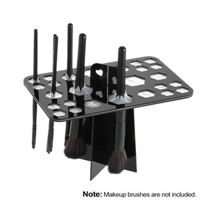 сушильные шкафы оптовых-New Holes Makeup Brush Holder profesional Stand make up brushes eyebrow eyeshadow stamp powder brush Cosmetic Drying Rack Shelf