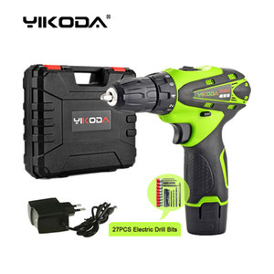Wholesale lithium cordless screwdriver for sale - Group buy 12V Cordless Screwdriver Household Mini Hand Electric Drill Lithium Multi function Power Tools One Battery Plastic Case Plus Drill Bits