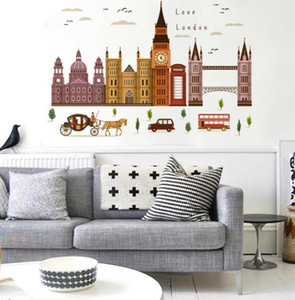 Wholesale London Big Ben Building Series Wall Stickers Home Decorative Wall Stickers Wall Stickers Creative Fashion Home Popular Wild Cartoons Cute