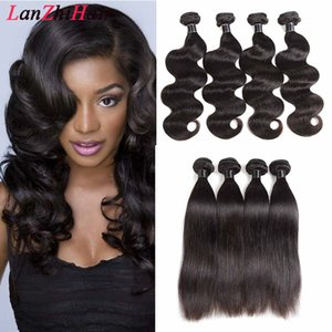 Wholesale brazilian hair extension colour for sale - Group buy Brazilian Malaysian Straight Hair Weave Bundles Virgin Hair Dyeable Natural Colour Hot Beauty Hair Extensions Body Wave