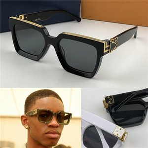 New men designer sunglasses Millionaire square frame vintage shiny gold summer UV400 lens style laser logo top quality 96006 on Sale