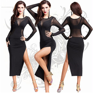 Wholesale Fashion sexy lace lady Latin dance dress Salsa Tango Ballroom Dance Dress Clothes Dancewear Wear Costumes Cheap For Adults