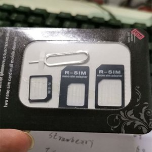 4 in 1 Nano Sim Card Adapter + Micro Sim card adapter + Standard SIM Card Adapter