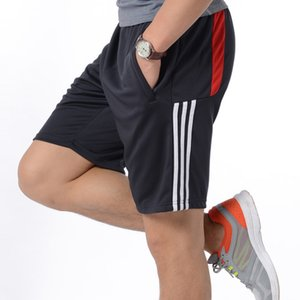 Wholesale Summer New Mens Sport Running Quick Dry Stripes Crossfit Short Pants Gym Wear Men Soccer Tennis Training Beach Shorts C190420