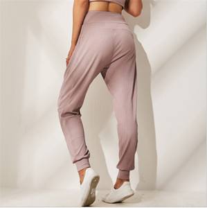 L-C7900 High Quality Women Yoga Girls Long Pants Running Ladies Casual Loose Yoga Outfits Sportswear Exercise Fitness Wear