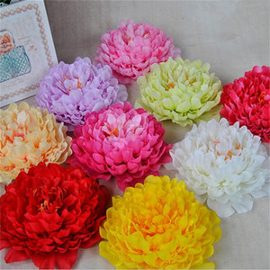 Wholesale 24pcs Artificial Big Size Peony Flower Heads quot Simulation Peony Flower for Wedding Christmas Party Decoration DIY Jewlery T191001