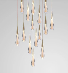 Wholesale scandinavian white pendant lights for sale - Group buy 2019 Hot Designer LED Water Drop pendant light minimalist Scandinavian loft Crystal Hanging Lamp Creative Restaurant Light
