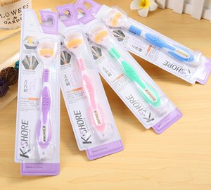 Wholesale K SHORE Whosesale Hot Tongue Clean Toothbrush Gingival Dew Double Clean Tongue Coat Brush Anti skid Handle
