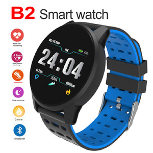 Wholesale B2 Bluetooth Smart watch Unlocked Phone Fitness tracker Watch with SIM Card Slot Touch Screen bracelet for Android IOS