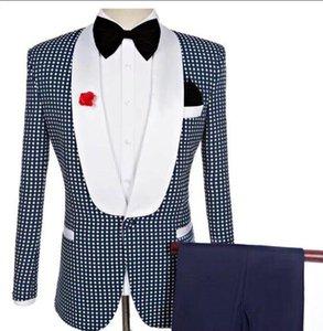 siyah smokini toptan satış-Yeni Erkekler Siyah Kruvaze Düğün Damat Pantolon Ile Suit Tux Adet Damat Baba Smokin Custom Made Adam Suits ceket Pantolon Yay