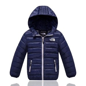 Wholesale Kids The North Brand Down Jacket Designer Juniors Winter Duck Pad Coats NF Outdoor Boy Girls Hooded Jackets Face Lightweight Coat C8802