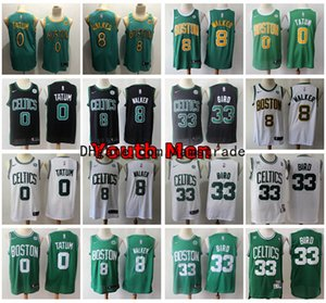 Wholesale 2020 Men Youth Boston Celtics Jayson Tatum Kemba Walker Swingman Basketball Jerseys Stitched Larry Bird Retro Youth Boys Jersey