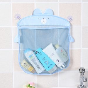 Wholesale Bathroom Hanging Storage Mesh Bag Cartoon Large Capacity Quick Dry Container Bathtub Toy Holder HK0287