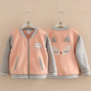 Wholesale Hot Selling Newest Baby Cartoon Baseball Shirt Autumn and Winter New Girls Long Sleeve Outerwear for Children
