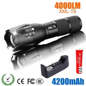 T6 4000Lm Tactical Military LED Flashlight Zoomable 5-Mode Tactical Torch LED Mini Flashlight Torch For 18650 Super Bright Torch Waterproof