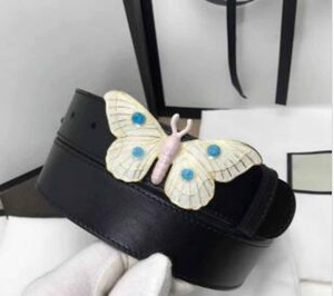 Belts For Women 2018 high quality butterfly Designer pin Buckle Cowhide Leather 3.4cm 2.0cm laides Fashion Luxury belts designer belt men on Sale