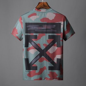 19ss Black graphic men T-SHIRT off Short sleeves T-Shirt camouflage prints mens tops White women tee shirts 27 on Sale