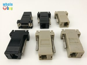 Wholesale High Quality Network Cable Adapter VGA Extender Male To LAN CAT5 CAT5e CAT6 RJ45 Femae