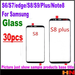 Wholesale 30pcs For Samsung Galaxy S6 S7 edge S8 S8 S9 S9 Plus note Front Outer Glass Lens Touch Screen Panel Repair Replacement Part