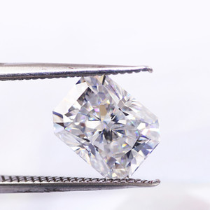 Free ship 0.2CT to 10CT radiant cut lab moissanite ice crushed cut best grade D color FL clarity more shiny than diamond certified stone