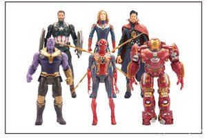 Wholesale 6 Style Avengers Captain Marvel Action Figures Doll toys kids Avengers Endgame Captain Marvel Thanos Iron Man spiderman Toy