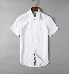 2019Men's business casual shirt men's long sleeve stripe slim fit healthy social men's new fashion plaid shirt #G14