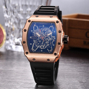 Wholesale 2019 New Leisure style RICHARD Brand Luxury Fashion Skeleton Watches Men or Women Skull sport Quartz Watch Big Bang hot Men s Quartz Watches
