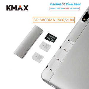 Wholesale KMAX inch G Phone Call Android Tablet PC GB DDR3 GB wifi Quad Core Dual Camera Tablets Cheap case keyboard