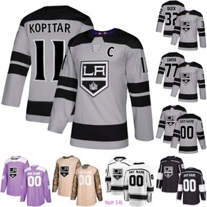 Wholesale Los Angeles Kings Anze Kopitar Dustin Brown Drew Doughty Clifford Jack Campbell Alex Iafallo Kovalchuk Jeff Carter Jonathan Quick Jersey